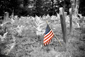 Selective Color Graveyard Flag
